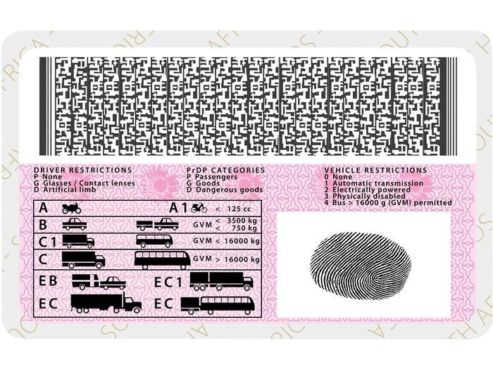 Suid Africa Bestuurslisensie Kaart Voorbeeld